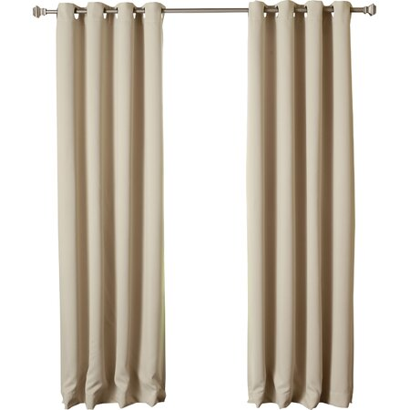 Blackout Grommet Curtain Panel in Beige (Set of 2)