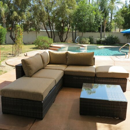 6-Piece Alton Wicker Seating Group in Brown