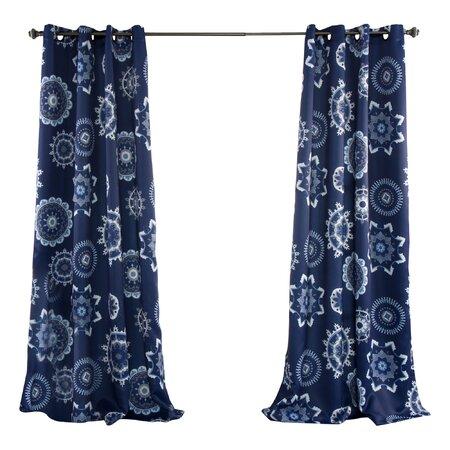 Suzani Blackout Rod Pocket Curtain Panel (Set of 2)