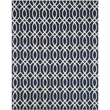 Celia Rug in Navy & Ivory