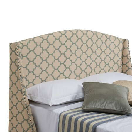 Grandview Upholstered Headboard in Tan & Sage