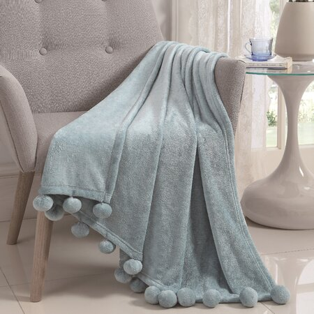 Montego Pom Pom Soft Throw Blanket