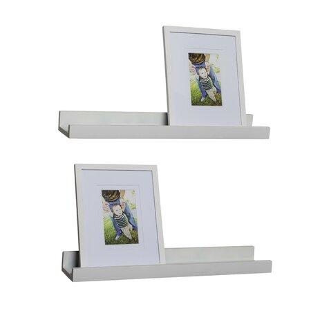 4-Piece Ledge Floating Shelf & Picture Frame Set