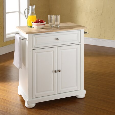 Reece Kitchen Cart with Solid Wood Top