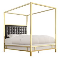 Candace Upholstered Bed in Vulcan Black