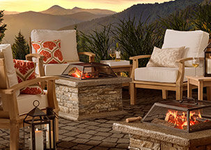 Lounging by the Firepit