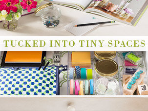 Tucked into Tiny Spaces