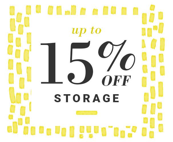 Storage Up to 15% Off