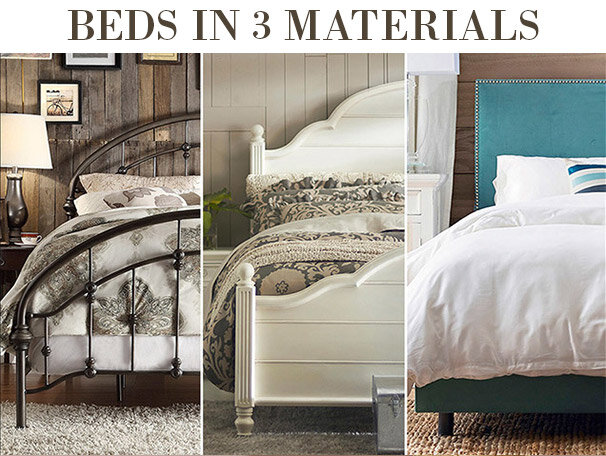 Beds in 3 Materials