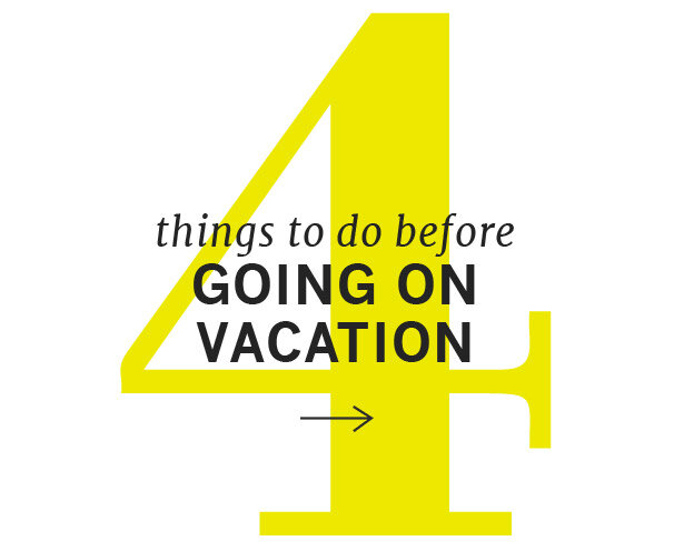 The Pre-Vacation Checklist