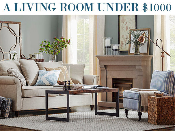 A Living Room Under $1000